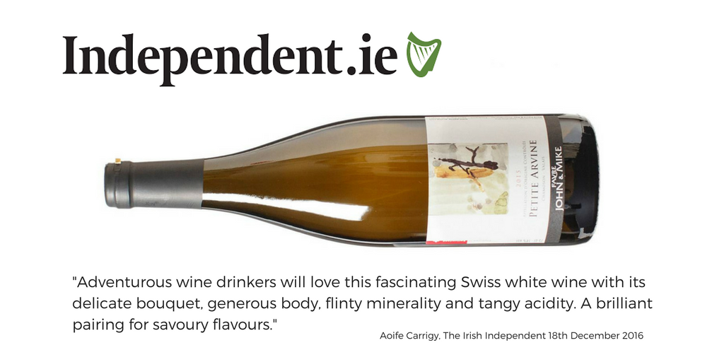 Irish Independent Rene Favre Swiss wines